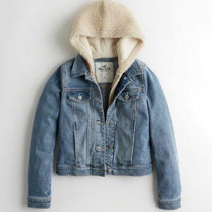 Rare Hollister Vintage Hooded Denim Jacket